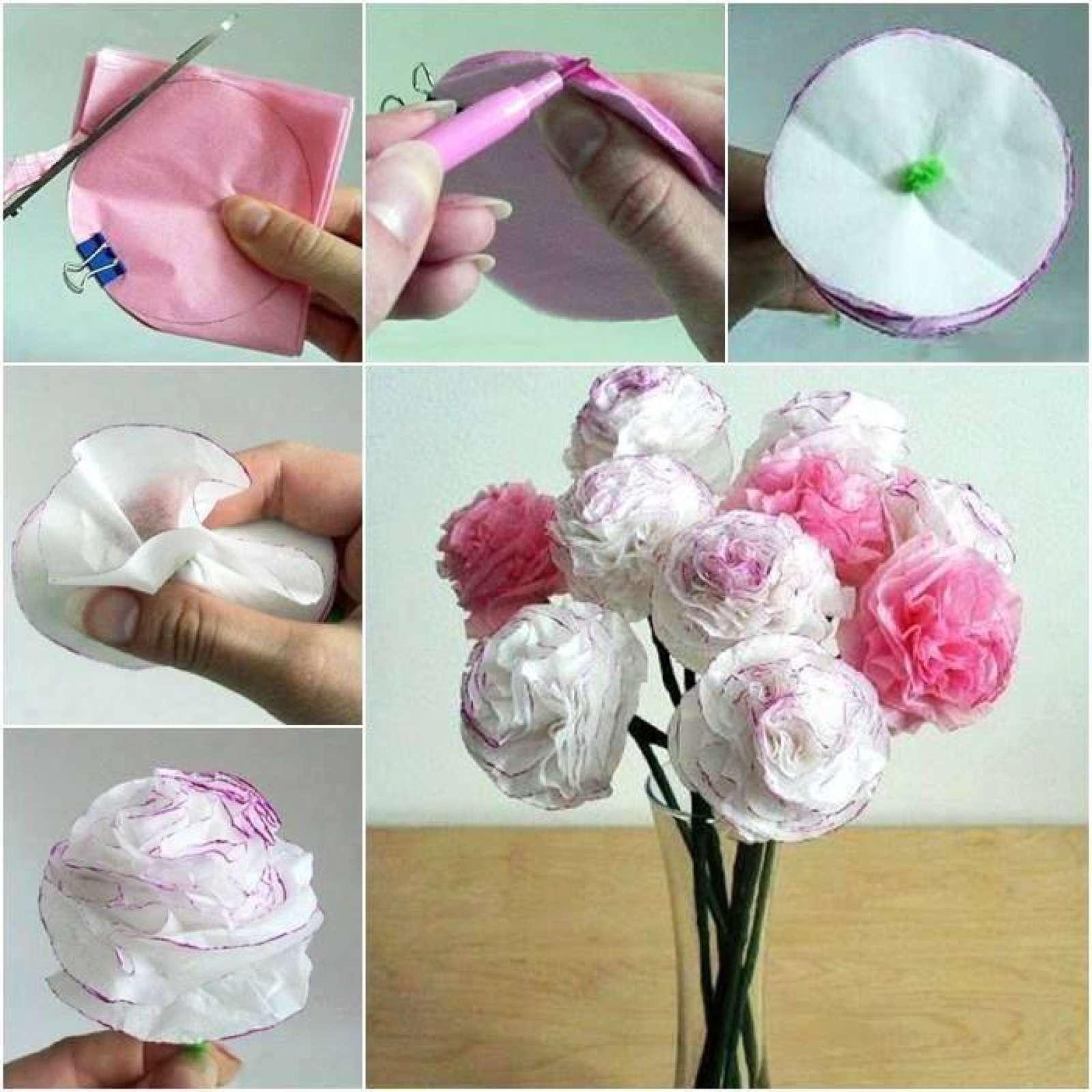 Из чего можно сделать цветы фото пошагово