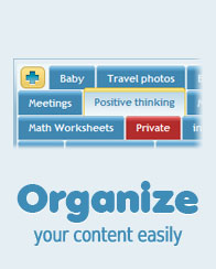Organize your content easily