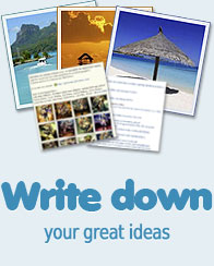 Write your text, links and upload your photos
